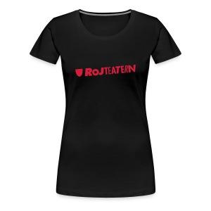 T-shirt dam Logga bröst - Premium-T-shirt dam
