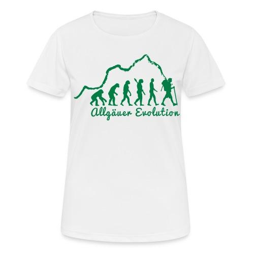 Frauen T-Shirt Allgäuer Evolution - Frauen T-Shirt atmungsaktiv