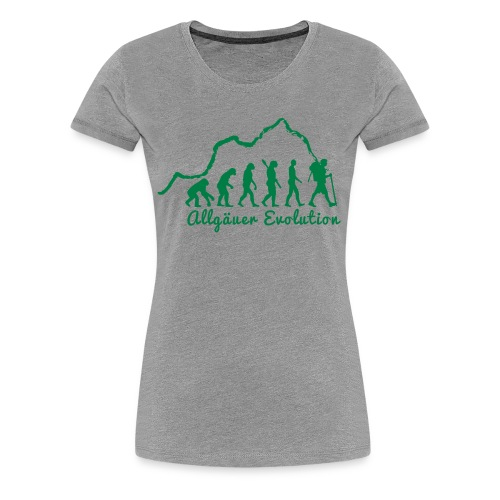 Frauen T-Shirt Allgäuer Evolution - Frauen Premium T-Shirt