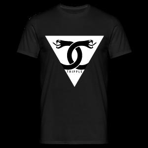 Double Snake Black - Mannen T-shirt