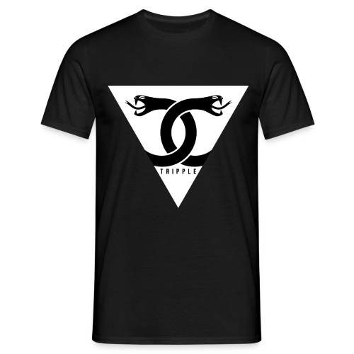 Double Snake Black - Mannen T-shirt