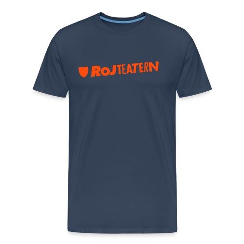 T-shirt herr logga blå/orange - Premium-T-shirt herr