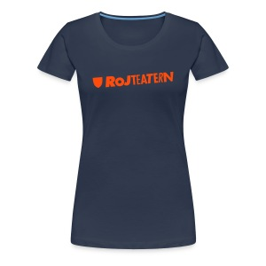 T-shirt dam logga blå/orange - Premium-T-shirt dam