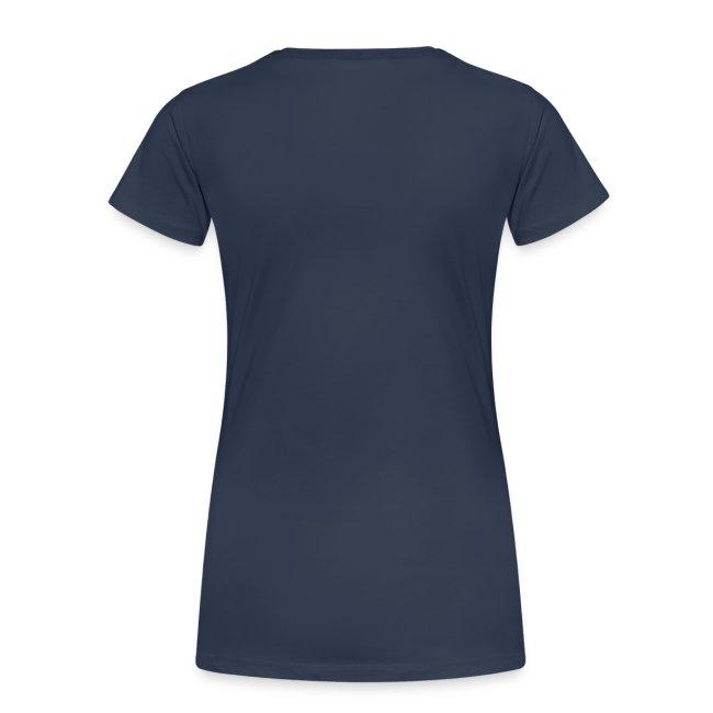 T-shirt dam logga blå/orange