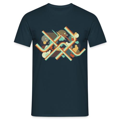 Vector flat curves design t-shirt - T-shirt Homme