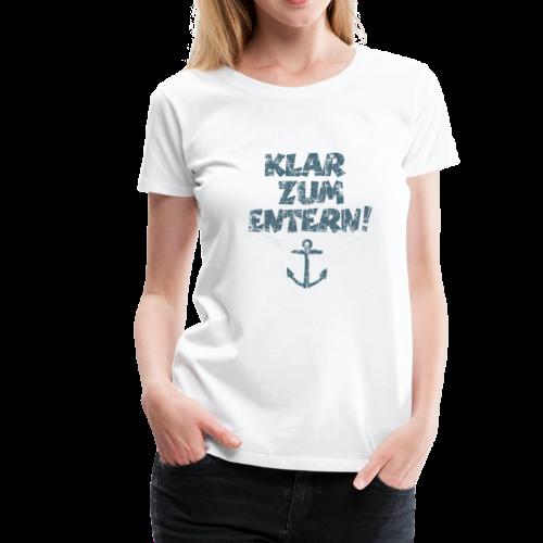 Klar zum Entern Anker Vintage (Blau) S-3XL T-Shirt - Frauen Premium T-Shirt