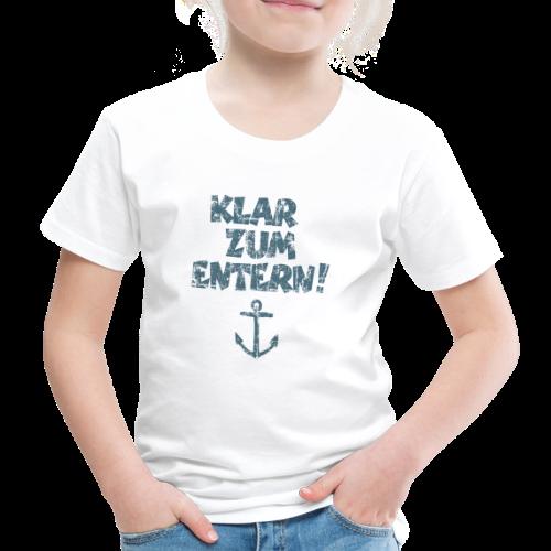 Klar zum Entern Anker Vintage (Blau) Kinder T-Shirt - Kinder Premium T-Shirt