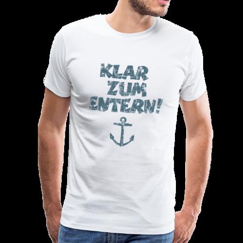 Klar zum Entern Anker Vintage (Blau) S-5XL T-Shirt - Männer Premium T-Shirt