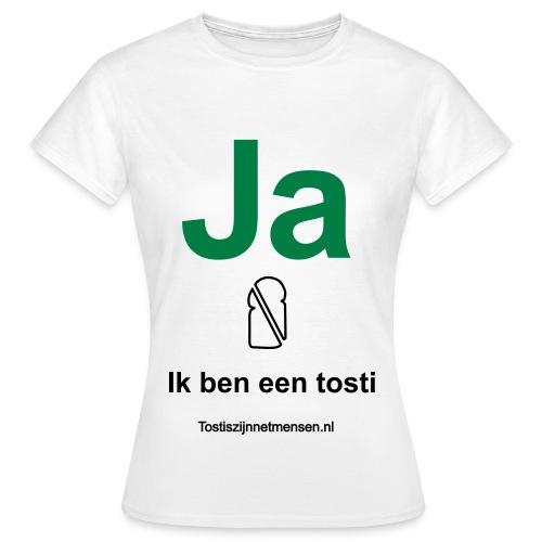Ja - vrouw (zwart/groen) - Vrouwen T-shirt