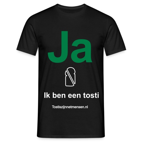Ja - man (wit/groen) - Mannen T-shirt