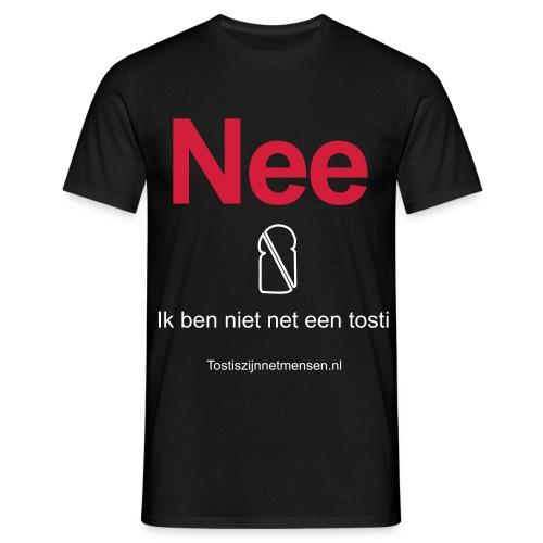 Nee - man (wit/rood) - Mannen T-shirt