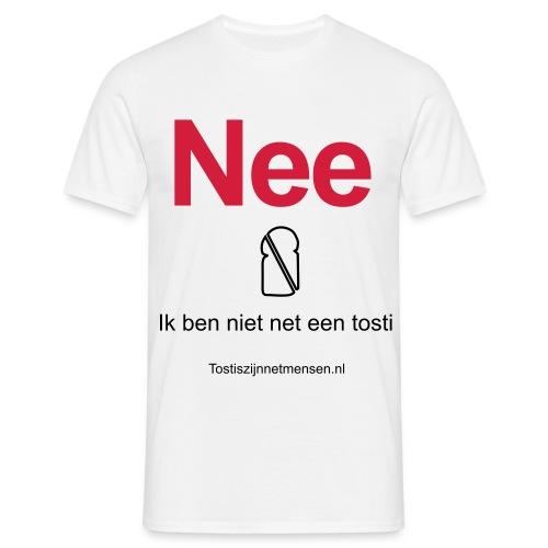 Nee - man (zwart/rood) - Mannen T-shirt