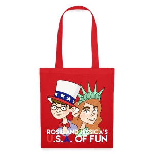 Rosie and Jessica's USA of Fun Tote Bag - Tote Bag