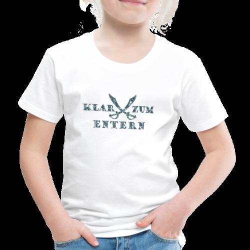 Klar zum Entern Säbel Vintage (Blau) Kinder T-Shirt - Kinder Premium T-Shirt