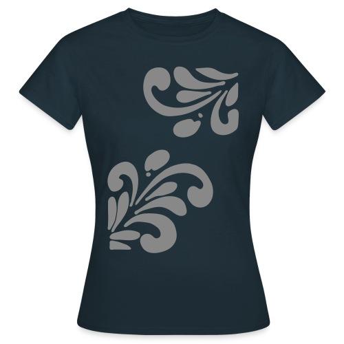 Silber Glitzer Bembel - Frauen T-Shirt