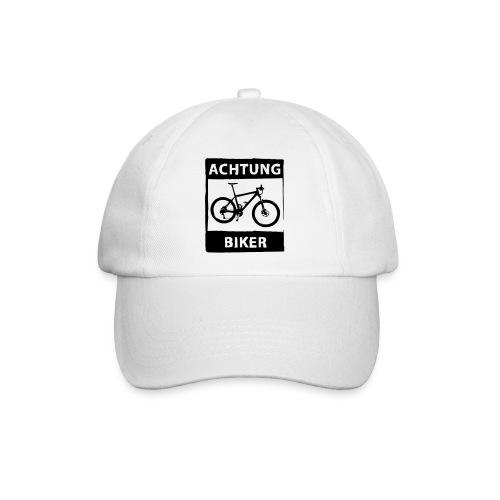 Basecap - Achtung Biker - einfarbig - Baseballkappe