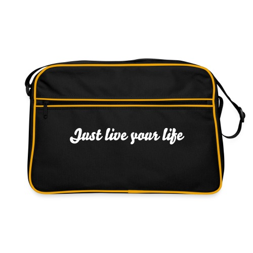 Borsa Just Live Your Life - Borsa retrò