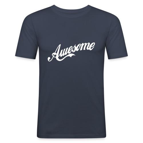 T-shirt Awesome - Maglietta aderente da uomo