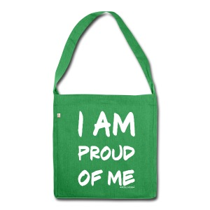 I am proud of me - Schultertasche aus Recycling-Material