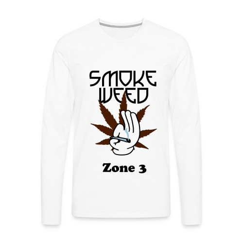 Smoke Weed manches longues - Zone 3 - T-shirt manches longues Premium Homme