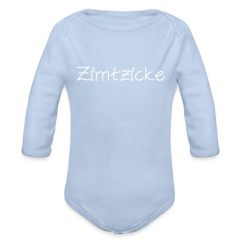 Baby-Body Zimtzicke - Baby Bio-Langarm-Body