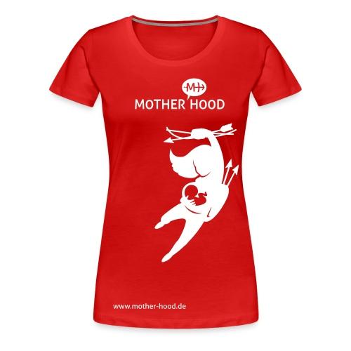Powermum T-Shirt rot weiß - Frauen Premium T-Shirt