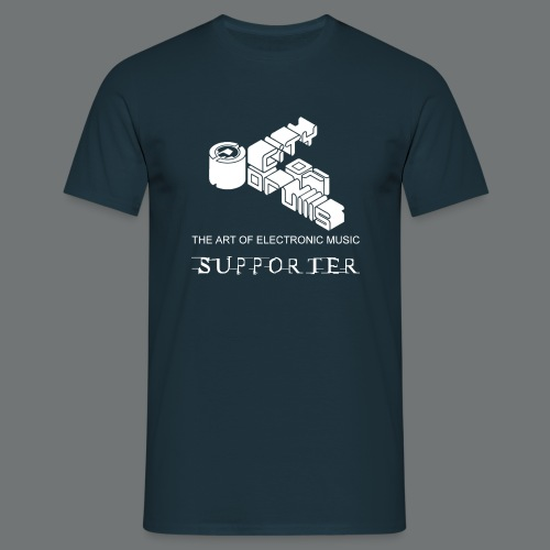 Männer Supporter-Shirt City of Drums  Navy/Weiß - Männer T-Shirt
