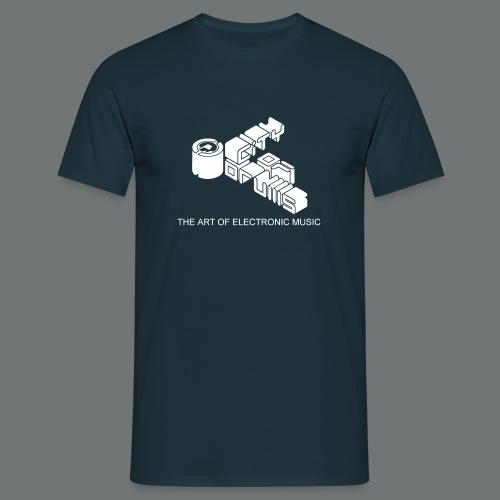Männer-Shirt City of Drums Logo  Navy/Weiß - Männer T-Shirt