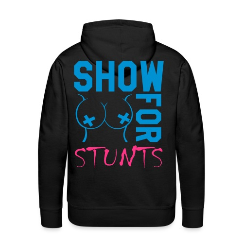LFW front/ show boobs for stunts at back blue/green/pink - Männer Premium Hoodie