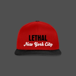 Snapback Hat // Selection of Colours // Large LETHAL NYC Logo - Snapback Cap