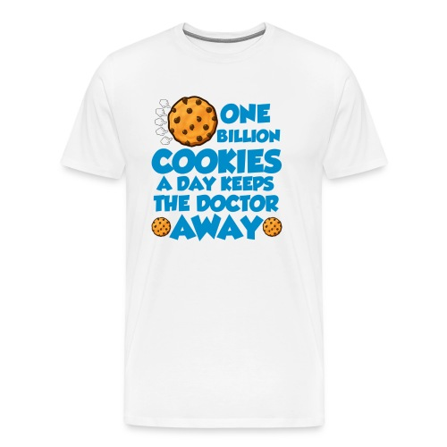 1 Billion Cookies White Men's T-Shirt - Men's Premium T-Shirt