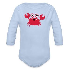 Niedlicher Krebs - Baby Bio-Langarm-Body
