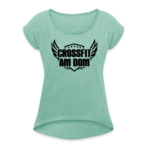 Ladies-Shirt - Frauen T-Shirt mit gerollten Ärmeln