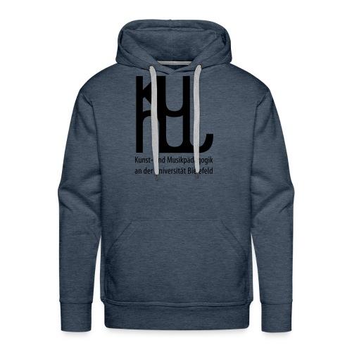 Herrenpullover schwarzes Logo - Männer Premium Hoodie