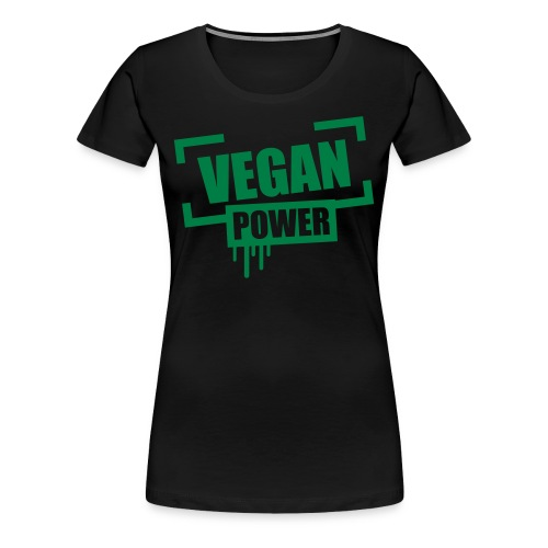 Vegan Power Stempel Logo - Frauen Premium T-Shirt