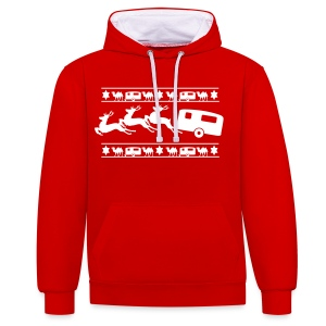 Christmas Jumper design - Contrast Colour Hoodie