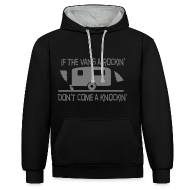 Hoodies & Sweatshirts ~ Contrast Colour Hoodie ~ If the Vans Rockin - Don't come knockin