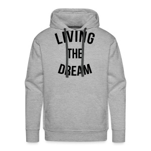 Sweat-shirt à capuche homme Living the dream - Sweat-shirt à capuche Premium pour hommes
