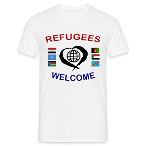 Refugees-Welcome-1-DD-M- T-Shirt - Männer T-Shirt