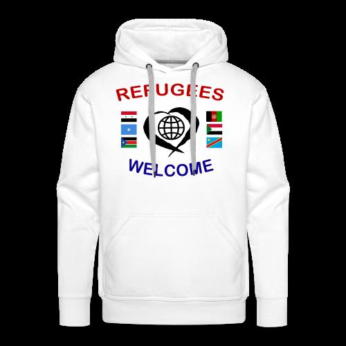 Refugees-Welcome-1-DT-M- Kapuzenpullover - Männer Premium Hoodie