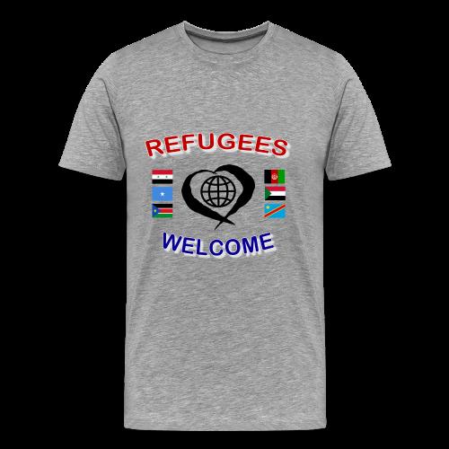 Refugees-Welcome-1-DD-M- Premium T-Shirt - Männer Premium T-Shirt