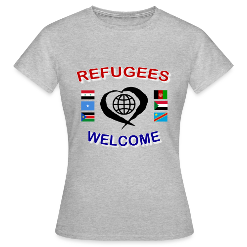 Refugees-Welcome-1-DD-F- T-Shirt - Frauen T-Shirt