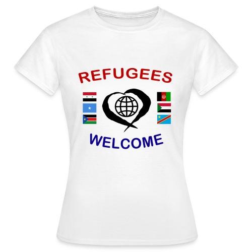 Refugees-Welcome-1-DD-F- T-Shirt - Frauen T-Shirt