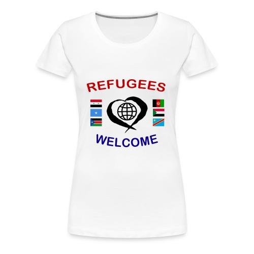 Refugees-Welcome-1-DD-F- Premium T-Shirt - Frauen Premium T-Shirt