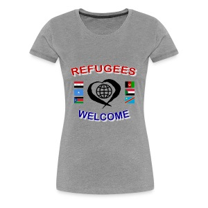 Refugees-Welcome-1-DD-F- Premium T-Shirt - Frauen Premium T-Shirt