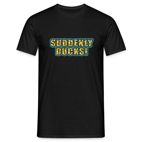 Duck-Filled Text Men's T-Shirt - Men's T-Shirt