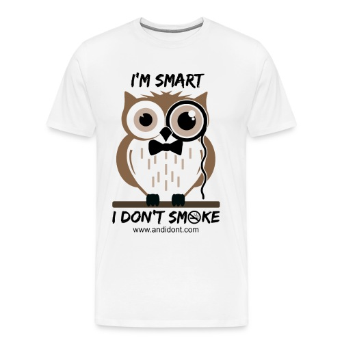 Smart Non-Smoking Owl - Men's Premium T-Shirt
