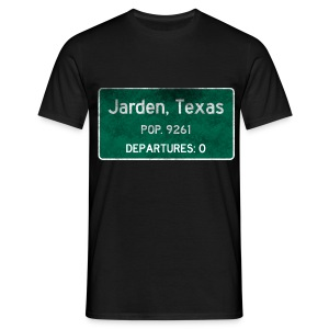 Jarden, Texas Road Sign - Men's T-Shirt