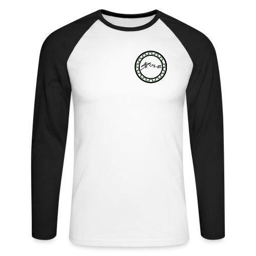 SOLE Round Logo 2 Colour Longsleeve Tee - Männer Baseballshirt langarm