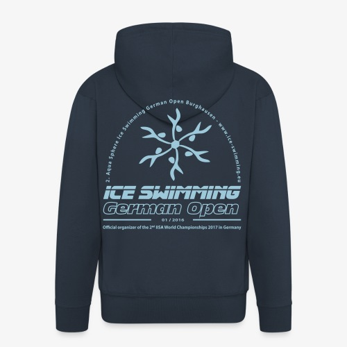 Ice Swimming German Open - Herren Zip-Hoody - Männer Premium Kapuzenjacke